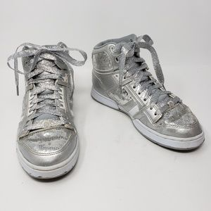 Osiris NYC 83 SLM Silver Sequin Hightop Sneakers